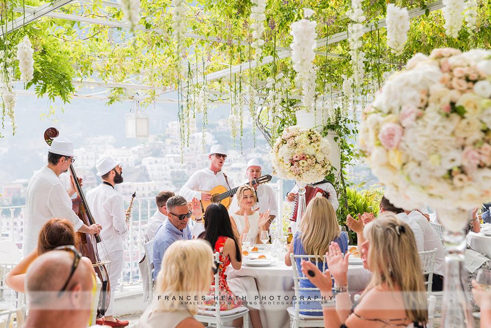 Wedding party at Villa Oliviero
