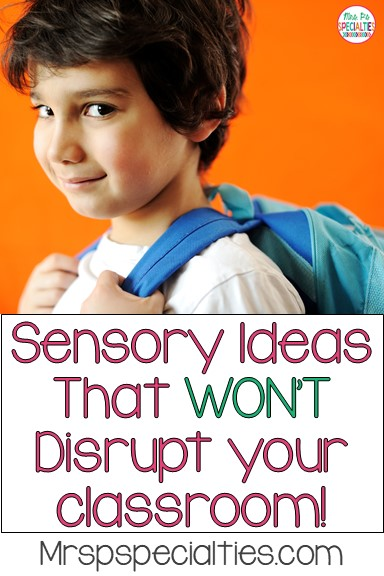 Sensory input sprinkled throughout the school day can be really beneficial for some of our students, but it can also be challenging to our classroom management systems. Here area some simple ideas that can be tailored to individual students without disrupting learning for other students.