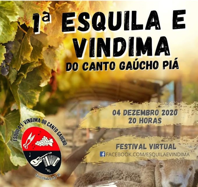 Intérpretes classificados para a 1ª Esquila e Vindima do Canto Piá