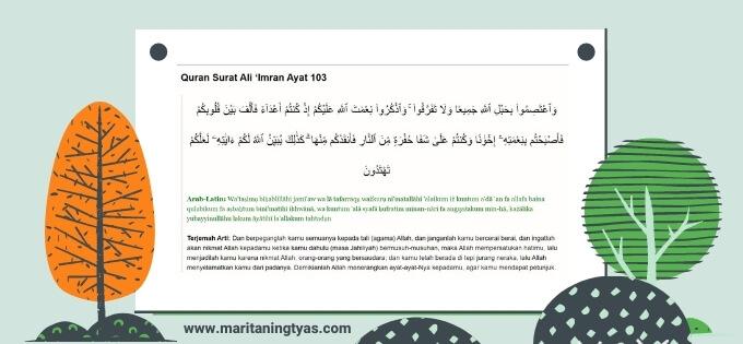 Al Quran Surat Ali Imran ayat 103