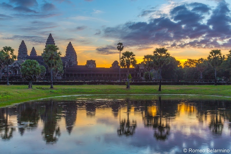 South Reflecting Pool Angkor Wat Sunrise Tips Siem Reap Cambodia