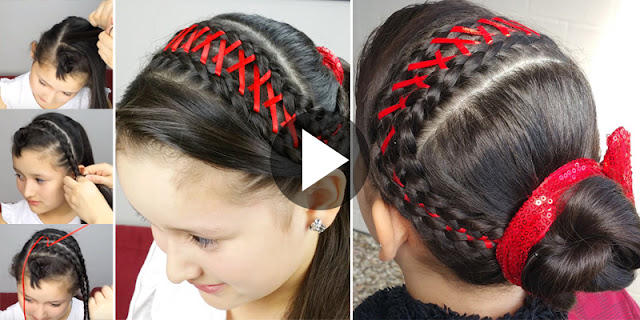 Learn - How To Create Easy Braid Headband Corset Hairstyle, See Tutorial