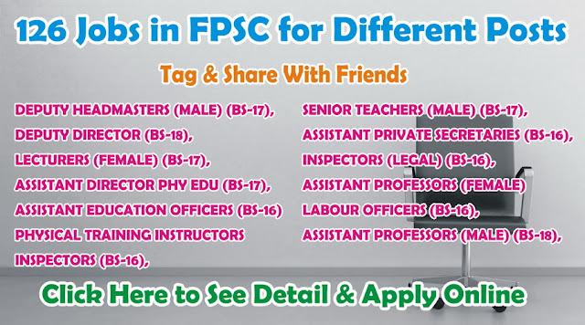 Career opportunity of government jobs in FPSC.