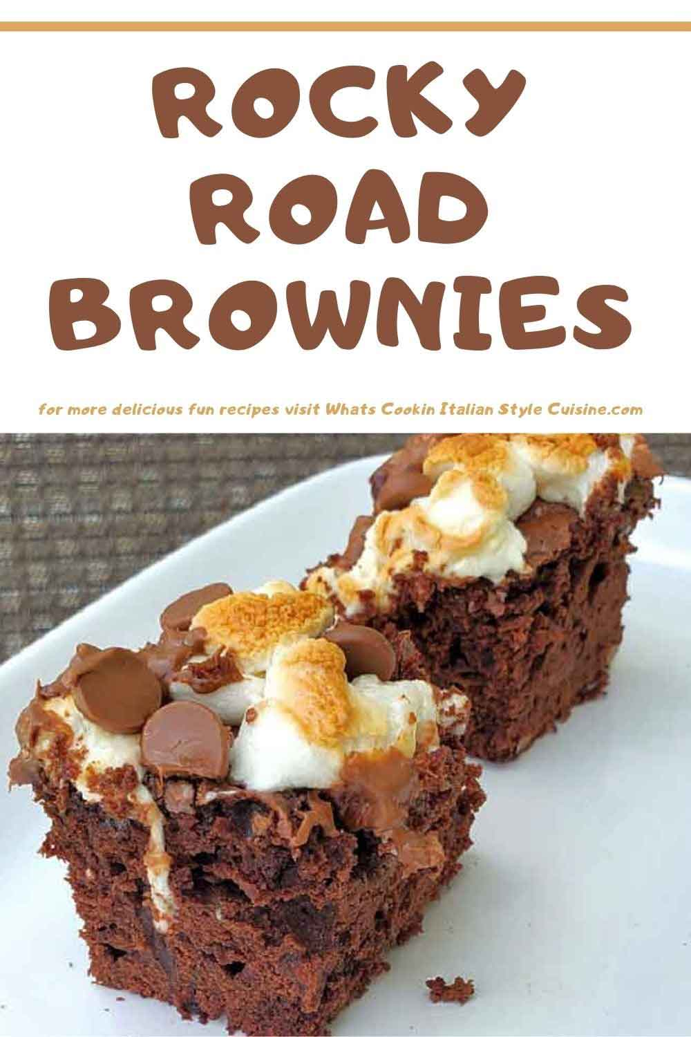 how to make rocky road brownies recipe pin for later