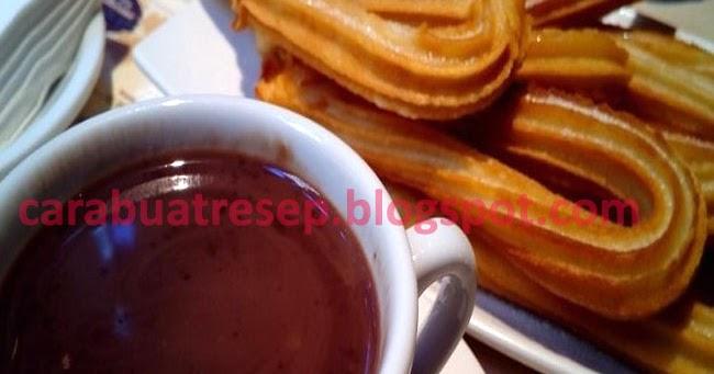membuat churros renyah saus coklat resep masakan indonesia Resepi Churros Oreo Enak dan Mudah