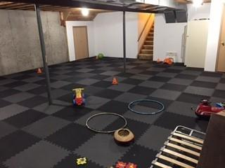 Greatmats Foam Economy 1/2 Inch Mats basement play area floor