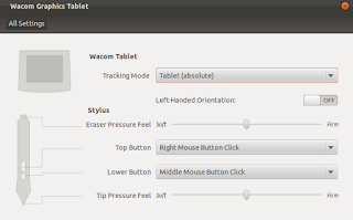 Wacom Pen Tablet GUI Ubuntu