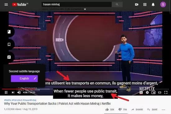 Cara menampilkan subtitle dalam 2 bahasa di video Youtube-1