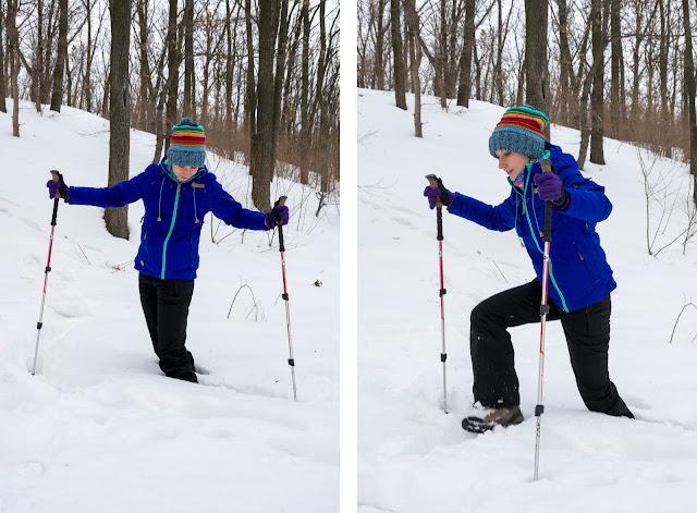 по коліно провалююсь у сніг без снігоступів