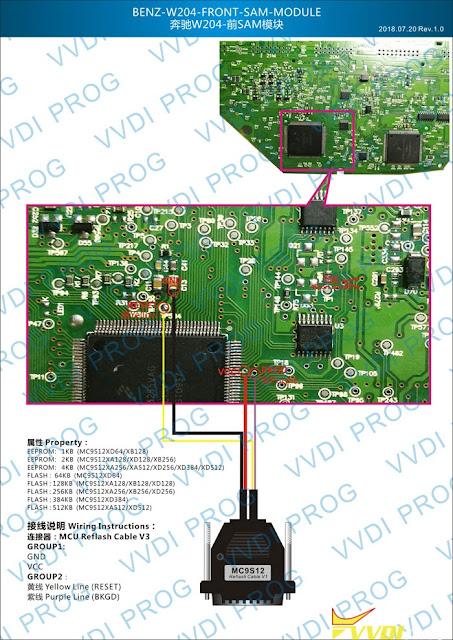 vvdiprog-benz-w204-front-sam-cloning-wiring-diagram