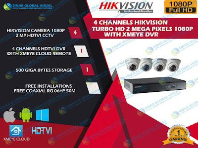 Paket 4 Kamera HIKVISION