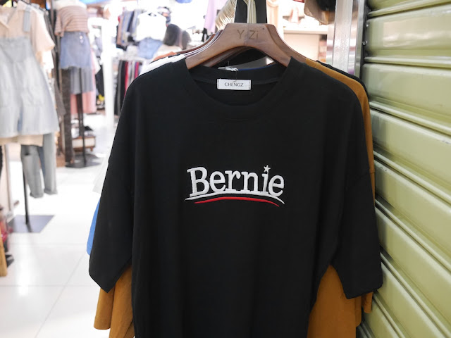 """Bernie"" shirt for sale in Guangzhou, China"