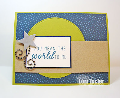 You Mean the World to Me card-designed by Lori Tecler/Inking Aloud-stamps from Reverse Confetti