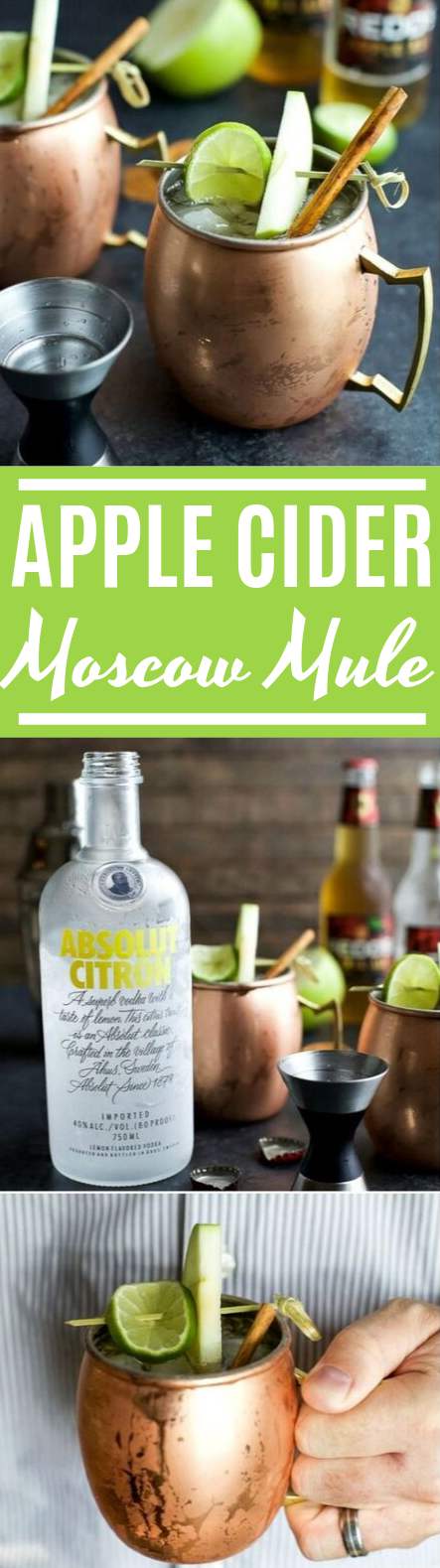 Apple Cider Moscow Mules #drinks #alcohol