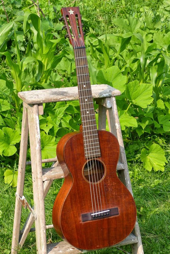 c 1919 Vega Size 2 Mahogany Parlor Guitar