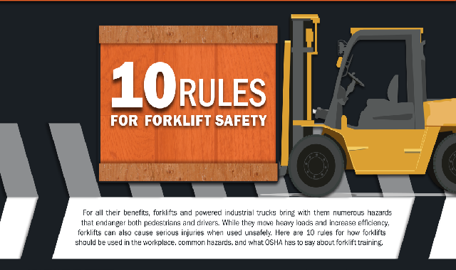 10 Rules For Forklift safety #infographic