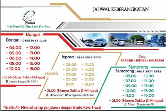 Jadwal Travel Bangsri Semarang