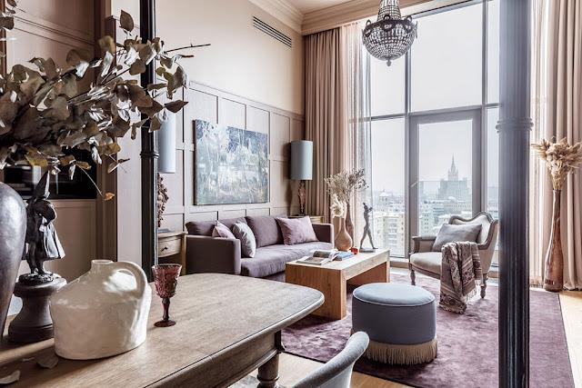 Beautiful apartment in Moscow by interior designer Olga Ievleva