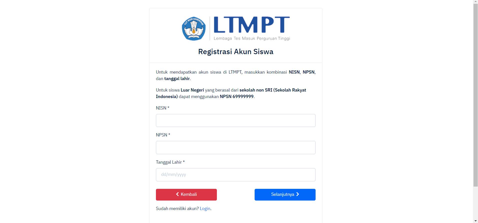 halaman register ltmpt