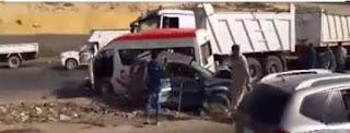 """مصرع وإصابة 21 في انقلاب سيارة علي الطريق الدائري """"اضغط للتفاصيل"""""""