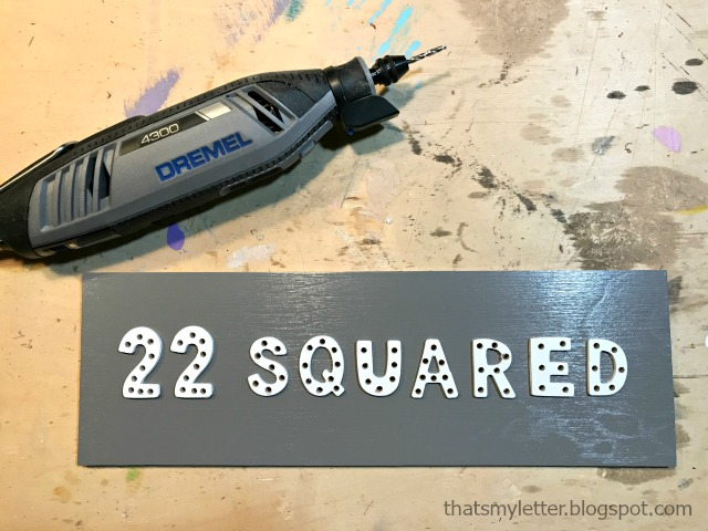 predrilled holes with dremel 4300