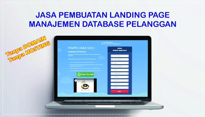 Jasa Pembuatan Landing Page Manajemen Database