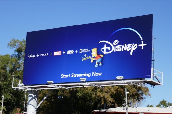 Disney plus Bart Simpson billboard