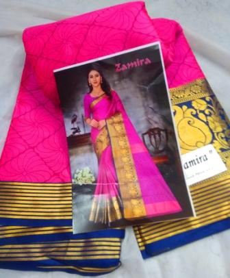 Cotton-silk border saree-29