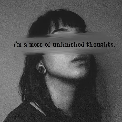 unfinished thoughts DP for girl