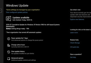 Windows 10 update 1903 KB4505903