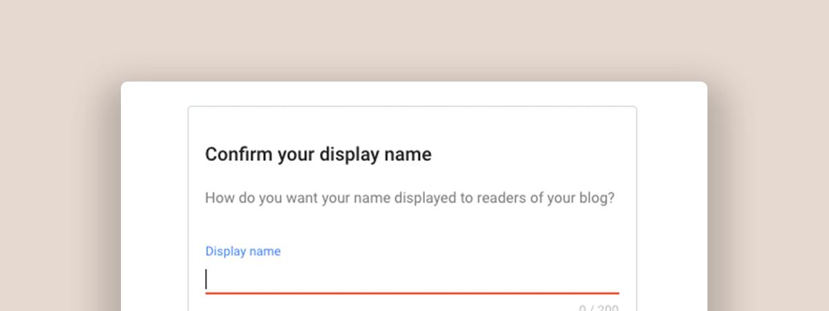 choose your display name