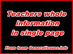 Teachers-whole-information
