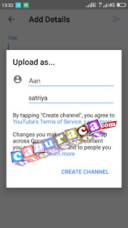 Cara upload video ke youtube dari hp