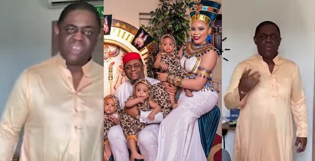 Ex-Minister, Femi Fani-Kayode caught on tape allegedly abusing his estranged wife, Precious (Video)