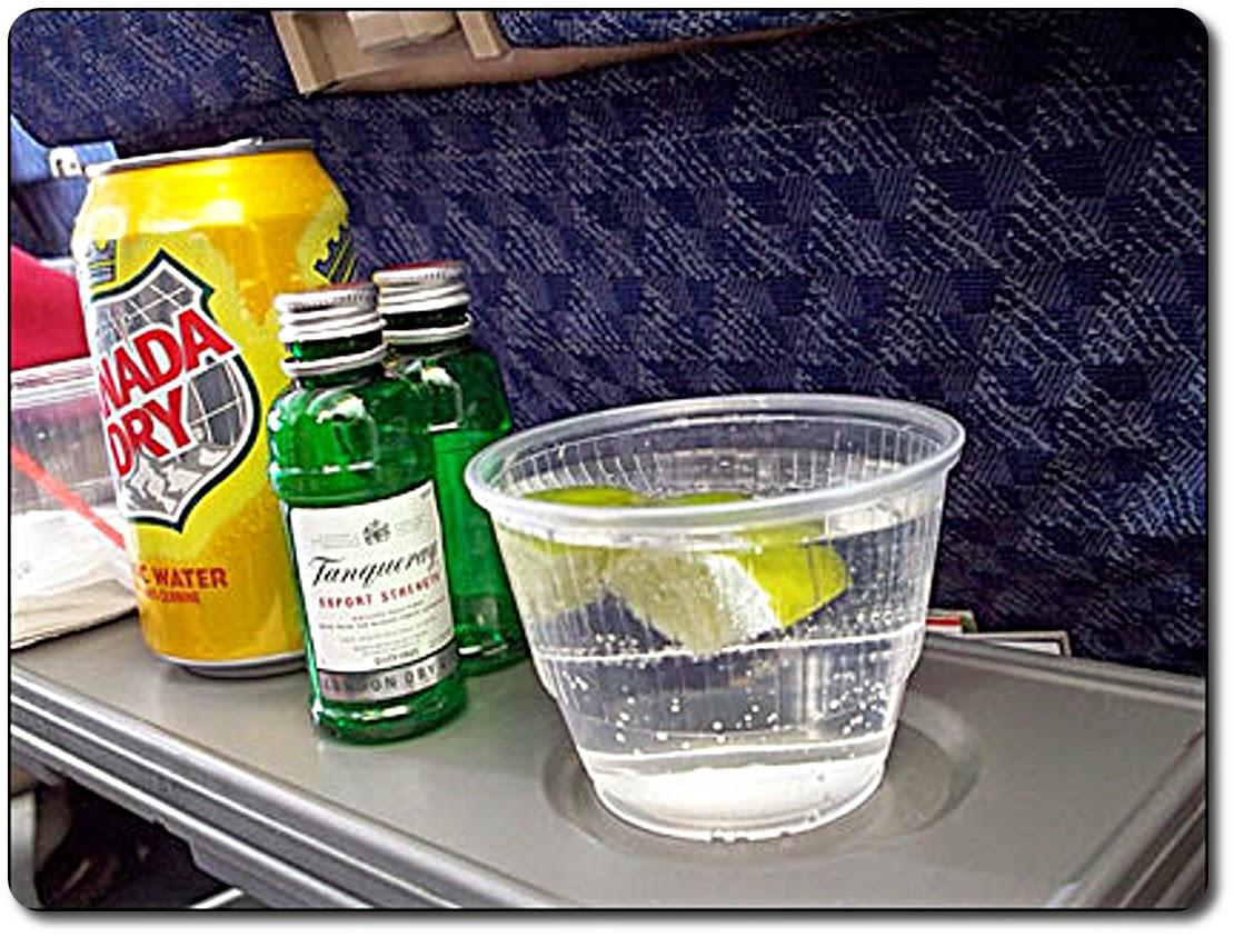 Service d'alcool dans l'avion