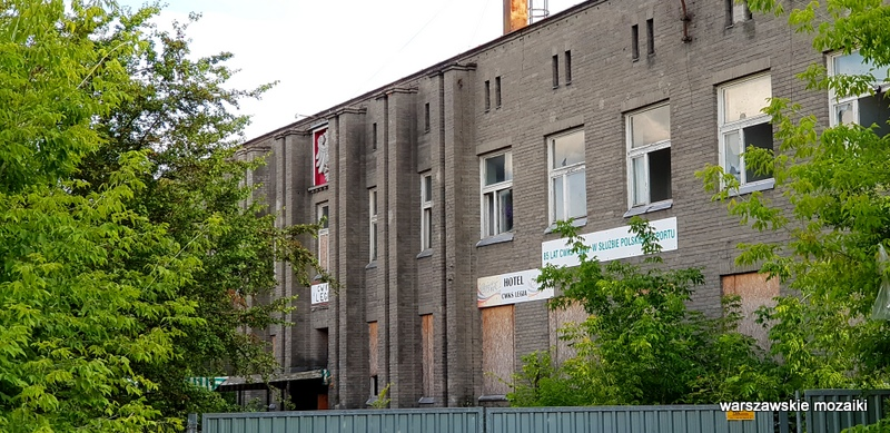 szara cegła Warszawa Warsaw osiedle oficerów Wojska Polskiego Fort Bema architektura wojskowe  hotel Legia opuszczone