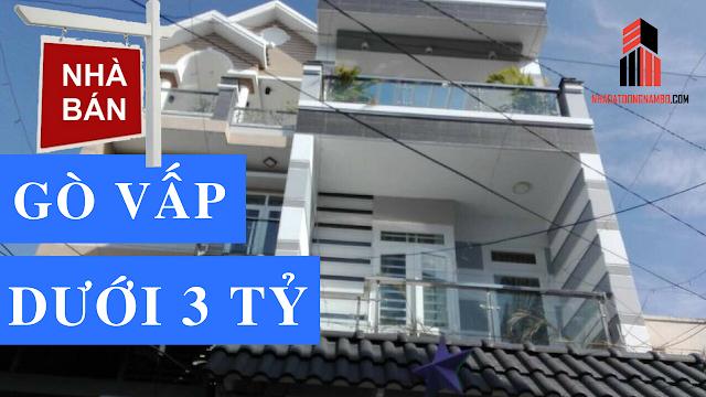 Bán nhà quận Gò Vấp giá rẻ dưới 3 tỷ (tổng hợp 2018)