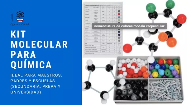 Kit molecular química orgánica 240 unidades