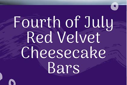 Fourth of July Red Velvet Cheesecake Bars