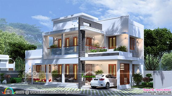 3d rendering of a modern style beautiful home