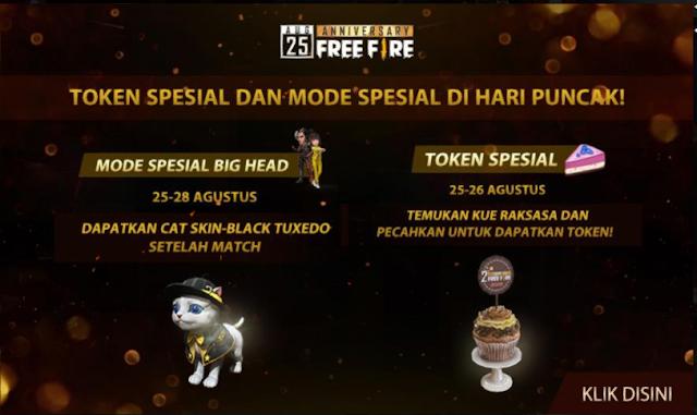 Cara Mendapatkan Skin Cat Black Tuxedo Gratis Event Anniversary Free Fire