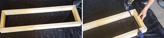 Make a bottom rectangular frame