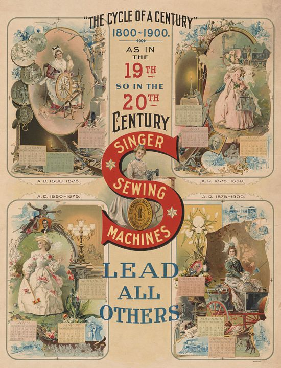Singer sewing machines ad 1900