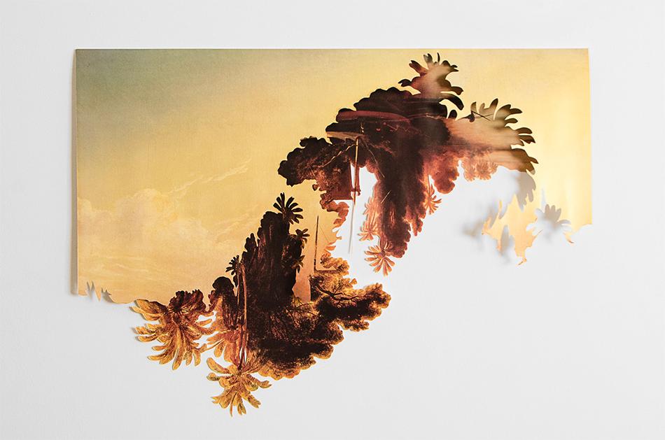 Fotografía de collage con pintura de Ferdinand Bellermann
