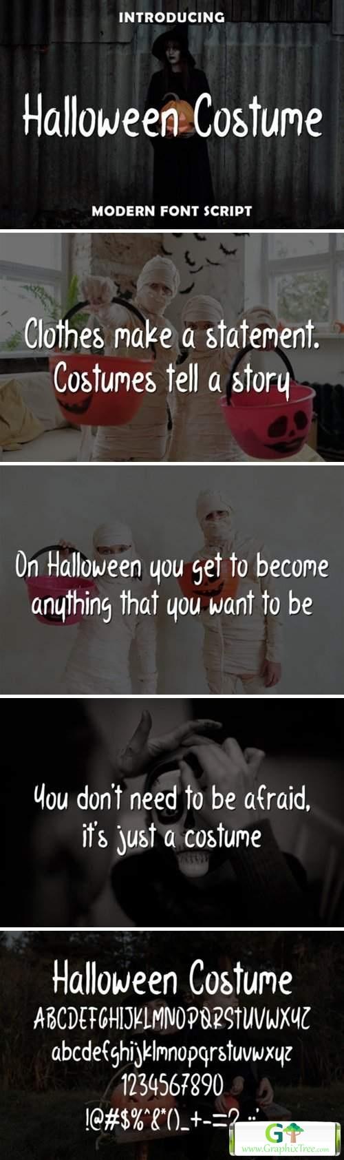 Halloween Costume [Font]