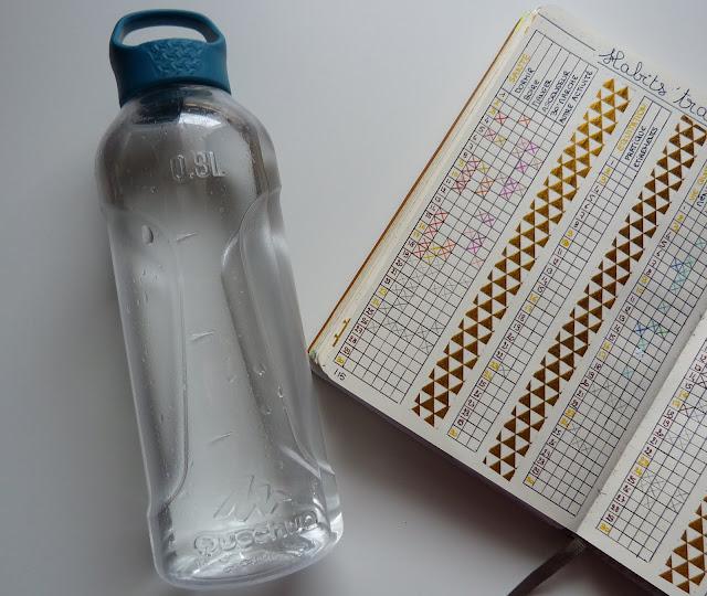bullet journal boire santé trackers
