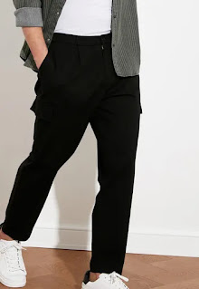 Trendyol - Мъжки Панталон карго с набирания