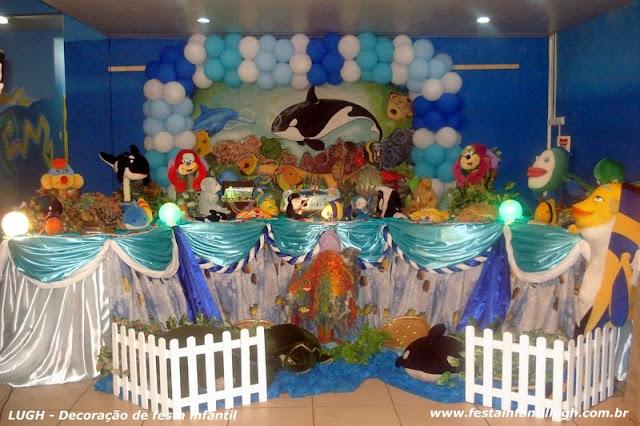 Decoração infantil Fundo do Mar