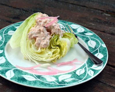 Homemade Thousand Island Dressing, another healthy salad ♥ AVeggieVenture.com. Never Buy Salad Dressing Again!