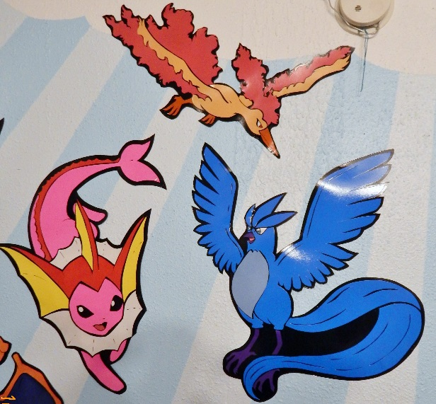Pokemon, Shiny Vaporeon, Articuno, and Moltres